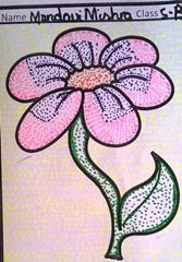 dot-art-flower by child Mandavi Mishra LMGC Lucknow