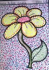 dot-art-flower by child aditi ghose