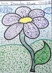 dot-art-flower by devisha misra lmgc lko