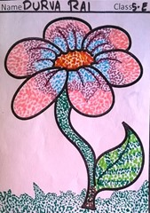 dot-art-flower by durva rai lmgc lko