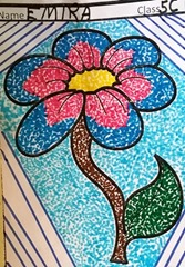 dot-art-flower by emira
