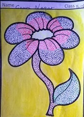 dot-art-flower by gauri nagar lmgc lko