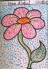 dot-art-flower by iqra abdul