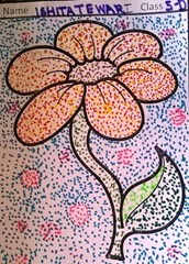 dot-art-flower by ishita tewari