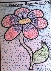 dot-art-flower by jaanhvi sarana