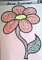 dot-art-flower by jenis kumar lucknow