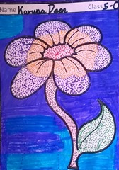 dot-art-flower by karuna door