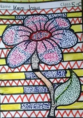 dot-art-flower by kriti joshi lmgc lko