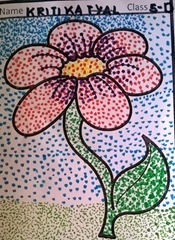 dot-art-flower by kriti katyal lucknow
