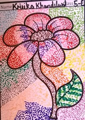 dot-art-flower by kritika khandelwal