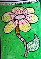 dot-art-flower by kritika malhotra