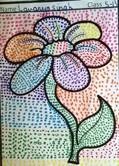 dot-art-flower by lavanya singh