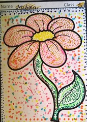 dot-art-flower by mihika lmgc lko