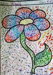 dot-art-flower by nainvi lmgc lko