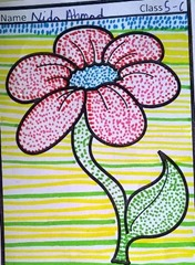 dot-art-flower by nida ahmad