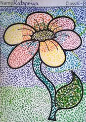 dot-art-flower by ratnpriya lmgc lucknow