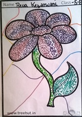 dot-art-flower by reva kesarwani