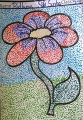 dot-art-flower by ridhima sinha
