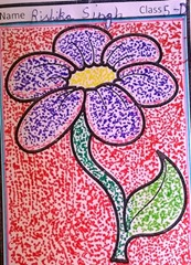 dot-art-flower by rishika singh