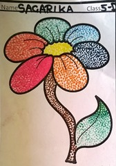 dot-art-flower by sagarika lmgc lucknow