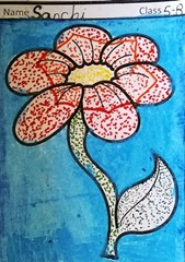 dot-art-flower by sanchi lmgc lko