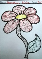 dot-art-flower by shambhavi sinha lucknow