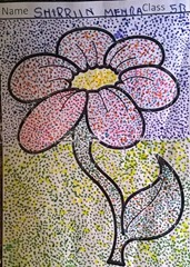 dot-art-flower by shirriin mehra lmgc lucknow