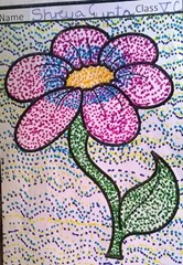 dot-art-flower by shreya gupta