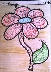 dot-art-flower by shreya lmgc lko