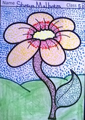 dot-art-flower by shreya malhotra