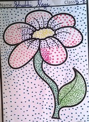 dot-art-flower by shubhi negi lmgc lko