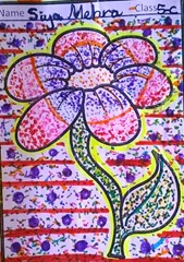 dot-art-flower by siya mehra lmgc lko