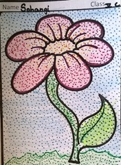 dot-art-flower by sohangi