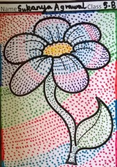 dot-art-flower by sukanya agarwal