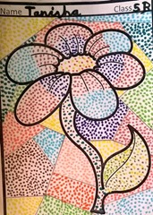 dot-art-flower by tanisha