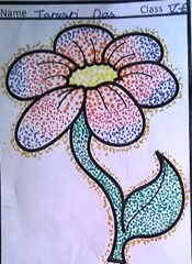 dot-art-flower by tanusri das lmgc lucknow