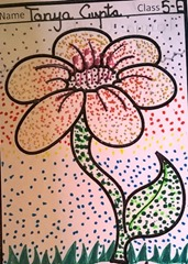 dot-art-flower by tanya gupta