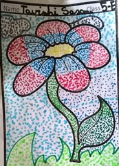 dot-art-flower by tavishi saxena