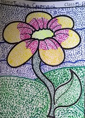 dot-art-flower by tulika gurnani lucknow india