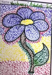 dot-art-flower by vaishnavi ashutosh lmgc lucknow