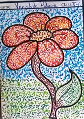 dot-art-flower by vanshika pahwa lmgc lko