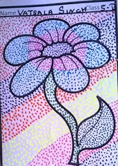 dot-art-flower by vatsala singh