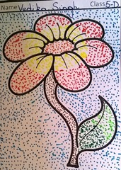 dot-art-flower by vedika singh