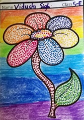 dot-art-flower by vidushi singh