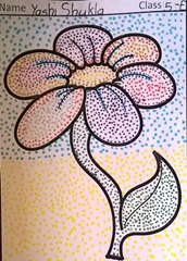 dot-art-flower by yashi shukla