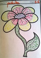 dot-art-flower by yashika lmgc lucknow