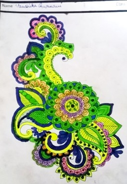 paisley-design child art by Vanshika Gurnani