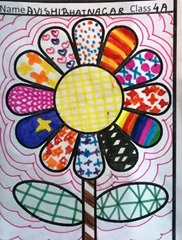 pattern art idea  by child