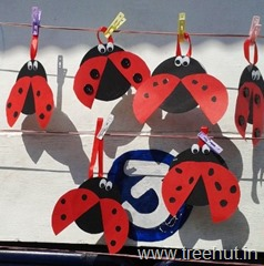 cd craft idea garden critter ladybird
