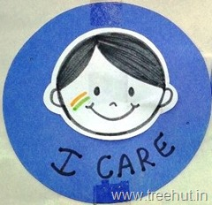 india-tri-color-badge for school boy kids craft idea